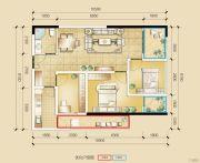 瑞鼎城3室2厅1卫87平方米户型图