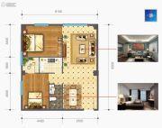 时光城・云立方2室2厅1卫123平方米户型图