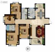 正德君城4室2厅2卫0平方米户型图