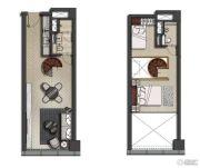 欧美金融城(EFC)1室1厅1卫54平方米户型图