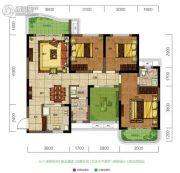 旺德府恺悦国际4室2厅2卫117平方米户型图