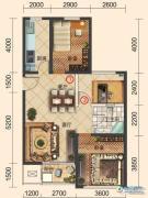 一方南岭国际2室2厅1卫95平方米户型图