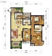 中交锦湾一期3室2厅2卫126平方米户型图