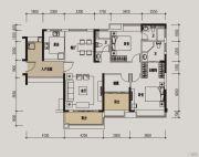 肇庆敏捷城3室2厅3卫132平方米户型图