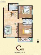 西部峰景2室2厅1卫94平方米户型图