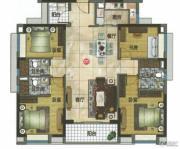 万科东荟城4室2厅3卫140平方米户型图