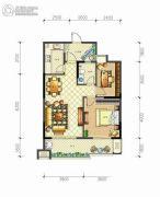 佳源・名人国际花园2室2厅1卫89平方米户型图