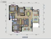 中珠・在水一方3室2厅2卫119平方米户型图