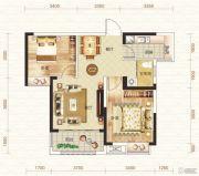 钓鱼台二期2室2厅1卫76平方米户型图