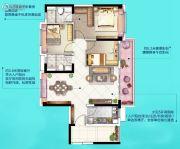 广州挂绿湖碧桂园3室2厅2卫102平方米户型图