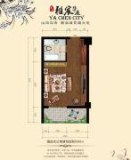 复泰雅宸华庭1室1厅1卫45平方米户型图