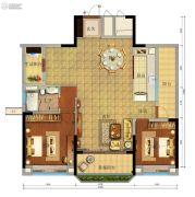 珠江金茂府3室2厅2卫112平方米户型图