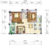 阳光西雅图2室2厅1卫82平方米户型图