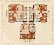 陶然家园3室2厅2卫127--140平方米户型图