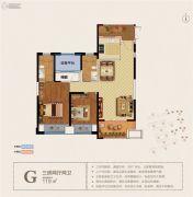 宝能城市广场3室2厅2卫119平方米户型图