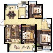 保利海德公馆3室2厅1卫120平方米户型图