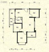 恒大新城3室2厅1卫99平方米户型图