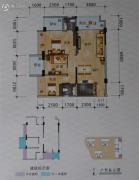 碧海新城3室2厅2卫94平方米户型图