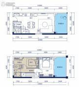 合正东部湾2室2厅2卫70平方米户型图