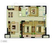 万科新都会3室2厅1卫94平方米户型图