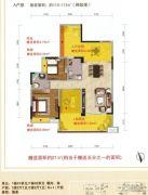 好美华庭3室2厅1卫110--112平方米户型图