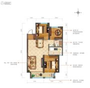新兴花语原乡3室2厅1卫105平方米户型图