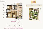 合景新鸿基泷景3室2厅2卫111平方米户型图