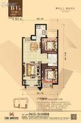 丹东万达广场2室2厅1卫81平方米户型图