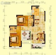 世界钰园2室2厅2卫98平方米户型图