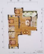 黔龙1号3室2厅2卫120平方米户型图