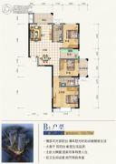 滨江星城3室2厅2卫122平方米户型图