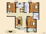 中购御景城3室2厅2卫118平方米户型图