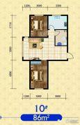 建发・观澜丽景2室2厅1卫86平方米户型图