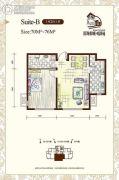 听涛苑1室2厅1卫70平方米户型图
