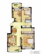 银亿璞园3室2厅1卫88平方米户型图