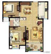 阳澄尚东2室2厅1卫88平方米户型图