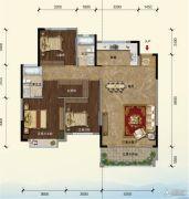 江畔大地3室2厅2卫131平方米户型图