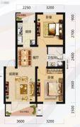 唐轩北廷2室2厅1卫72平方米户型图