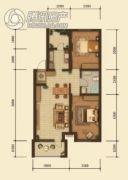 中鸿基名都2室2厅1卫89平方米户型图