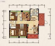 绿地新里缇香公馆4室2厅2卫142平方米户型图