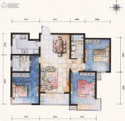 滨河果岭3室2厅2卫127平方米户型图