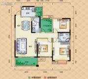梅溪峰汇4室2厅2卫135平方米户型图