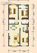 建国路阳光100大厦3室2厅2卫131平方米户型图