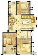 诚河新旅城3室2厅1卫89平方米户型图