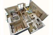 上乘世纪公园3室2厅2卫98平方米户型图