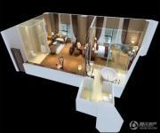 蓝光空港国际城2室1厅2卫150平方米户型图