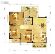 春天印象二期3室2厅1卫111平方米户型图