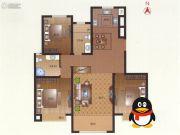 豪第坊3室2厅2卫124平方米户型图