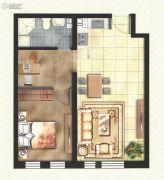 东方国际城2室2厅1卫61平方米户型图