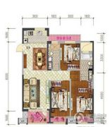 车城万达广场3室2厅1卫120平方米户型图